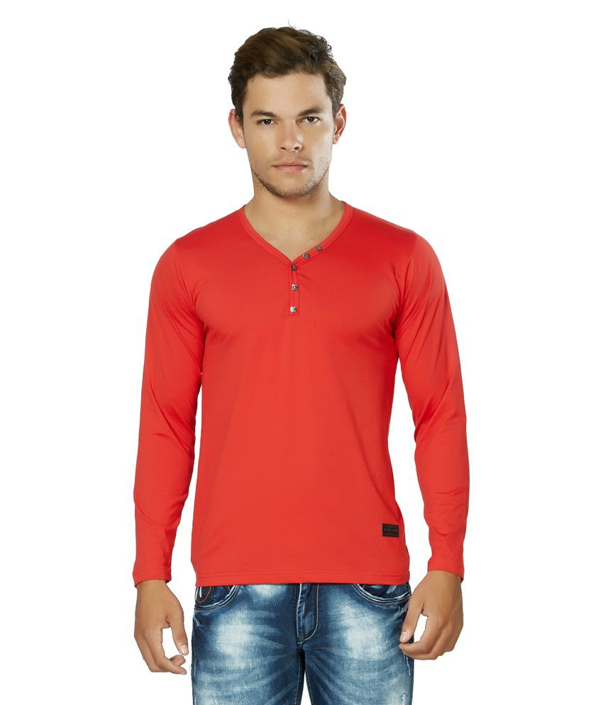 Alan Jones Red Basics Cotton T-Shirt