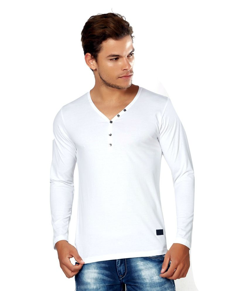 Alan Jones White Basics Cotton T-Shirt