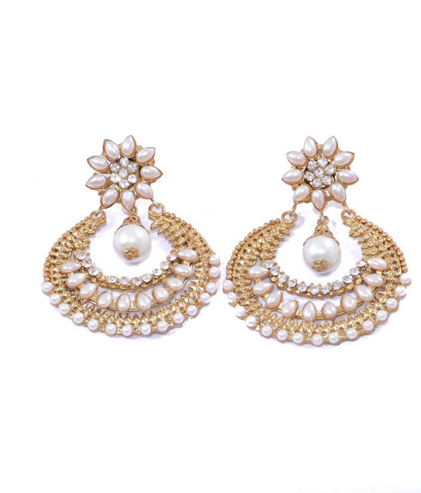 Beauty Gift White Style Diva Studs Alloy Screw Back Earrings