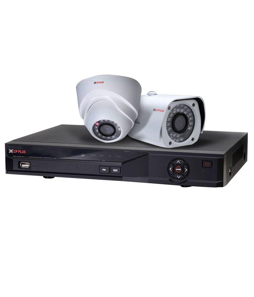 Cp-plus Hdcvi 4 Ch Dvr And 2 Dom Ir & 2 Bullet Ir - 1 Mega Pixels Camera Cctv Surveillance System