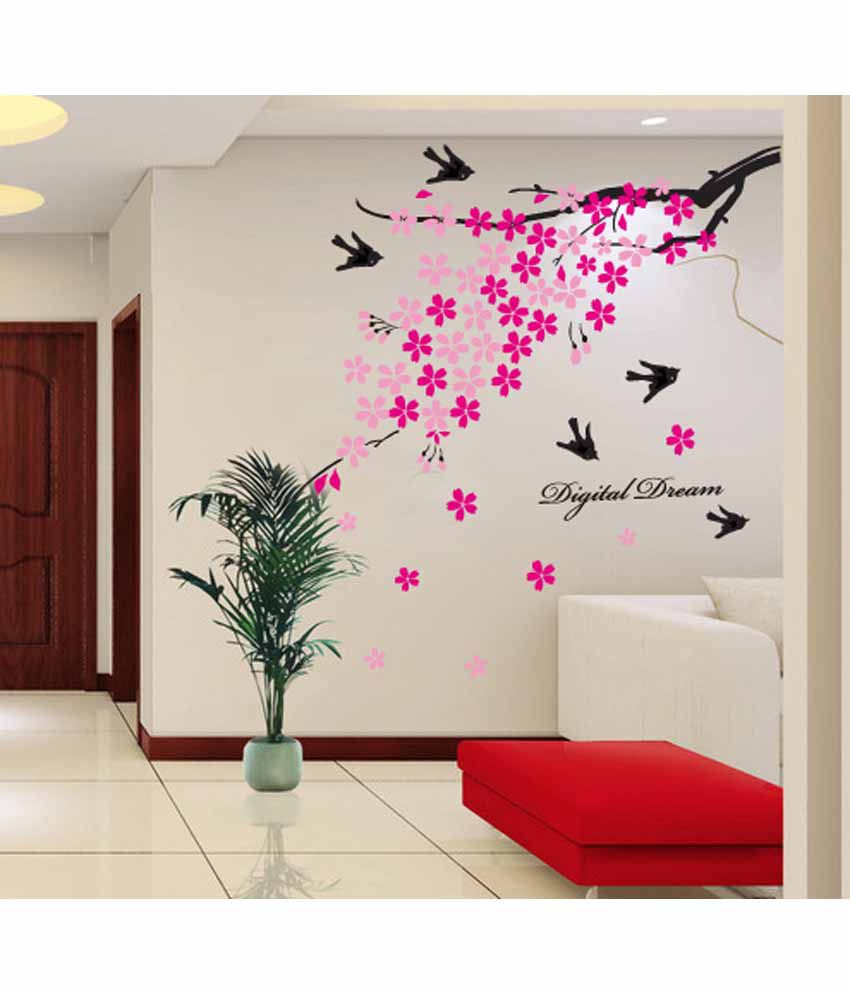 Wall stickers buy online - Oren Empower Floral Pvc Wall Stickers Oren Empower Floral Pvc Wall Stickers