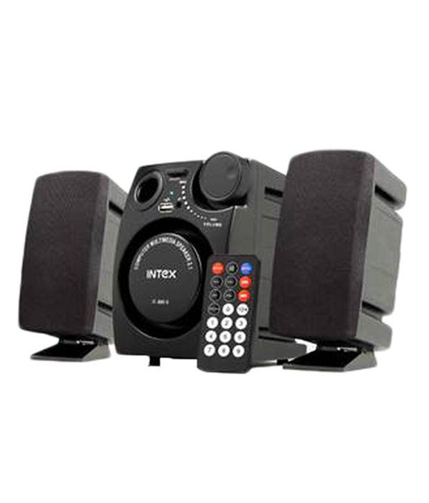 Intex Multimedia Speakers 2.1 Computer Speakers Black