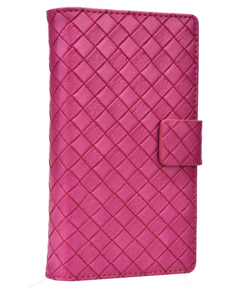 Jo Jo Cover Bali Series Leather Pouch Flip Case For Lenovo S750 Hot Pink