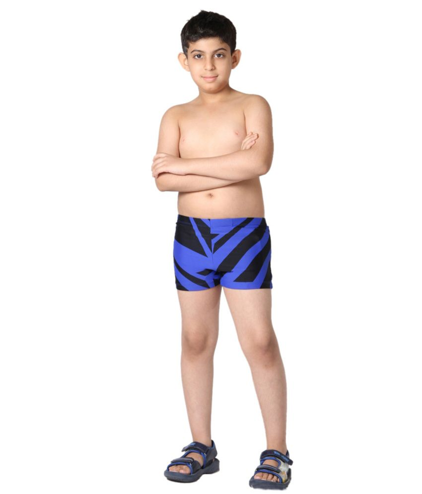 Indraprastha Black And Blue Boys Swimming Trunks and Costume/ Swimming Costume