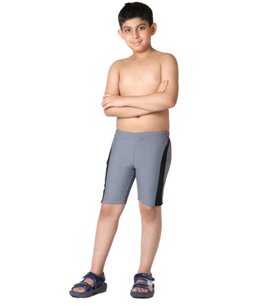 Indraprastha Grey Boys Swimming Trunks and Costume/ Swimming Costume