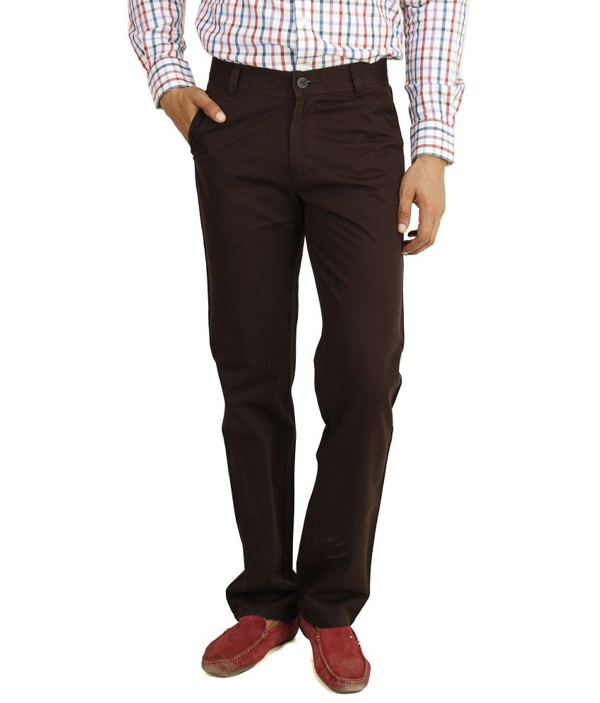 Eprilla Brown Cotton Chinos