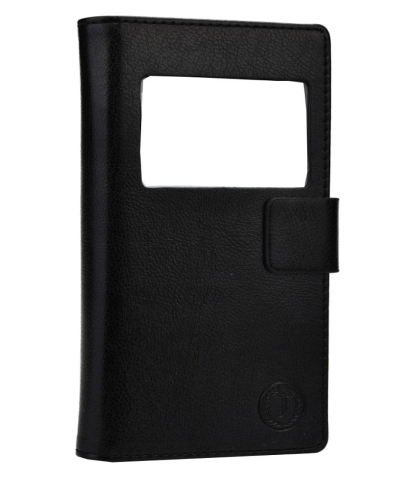 Jo Jo Flip Covers For Xolo Q700 Club Black available at SnapDeal for Rs.390