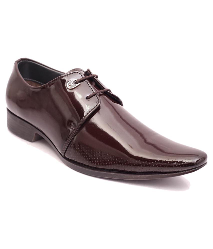 Adam's Heel Brown Formal Shoes