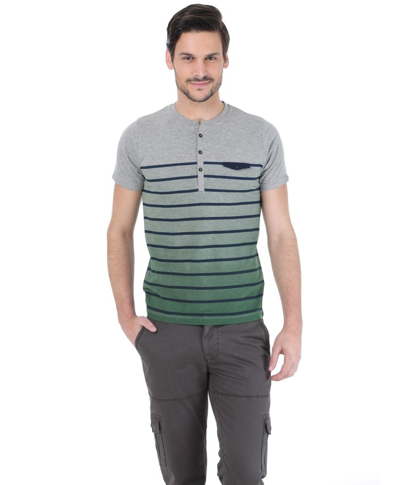Basics Gray Cotton T-shirt