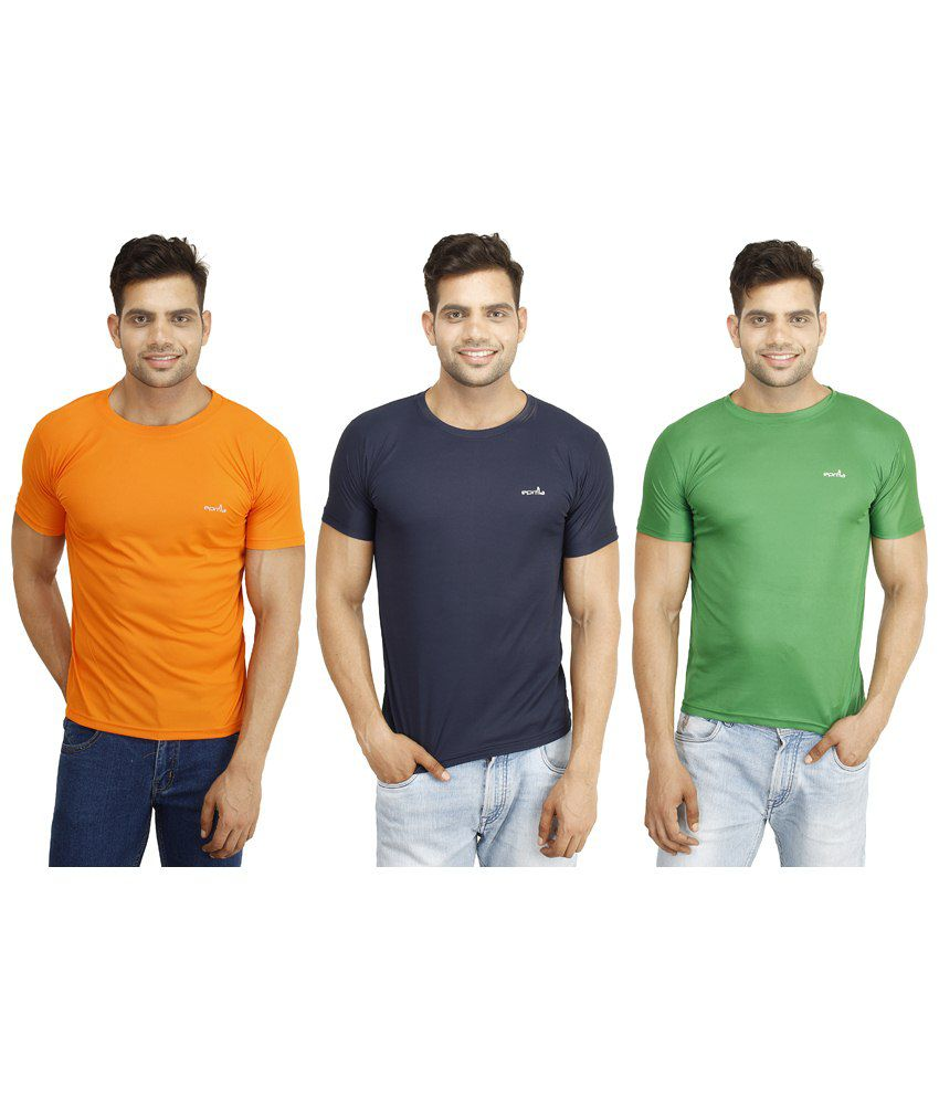 Eprilla Amazing Pack of 3 Multicoloured T Shirts for Men