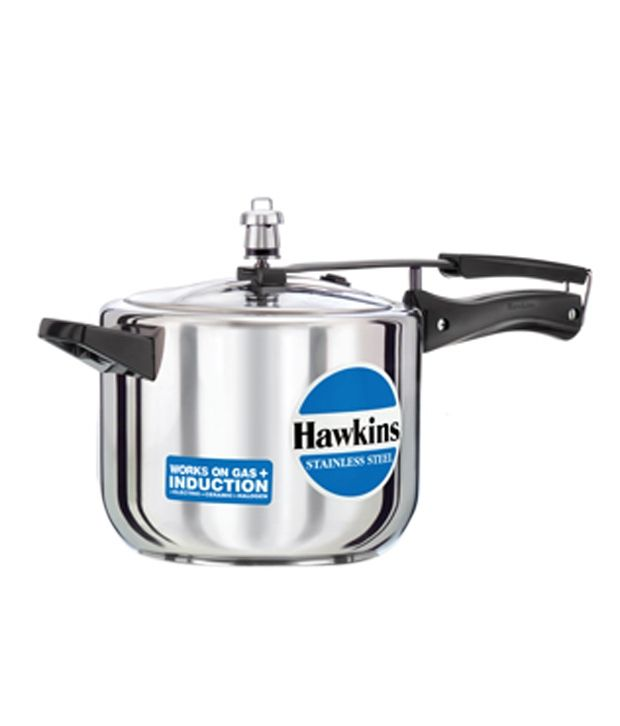 9228c99a1ff Hawkins Stainless Steel 5 Ltr Induction Compatible Steel Pressure Cooker