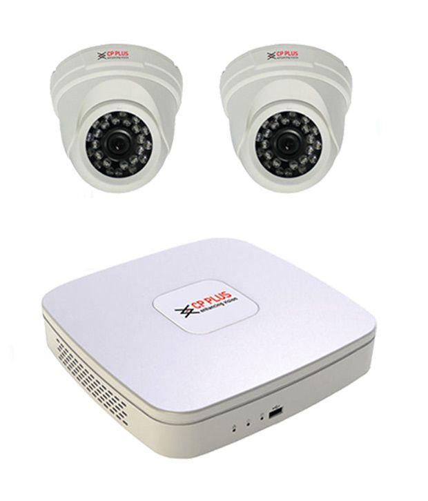 CP PLUS CP-UAR-0401-Q1 4-CH Dvr, 2(CP-QAC-DC72L2H2) Dome Cameras