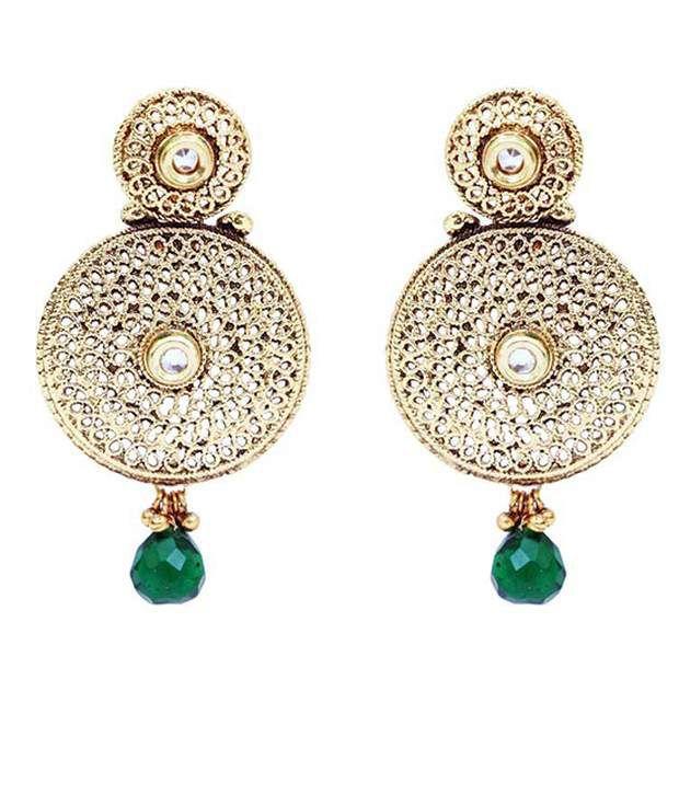 Forever Carat Green Alloy Colour Spark Earrings