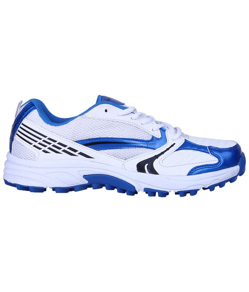 Nivia White & Blue Eden Cricket Shoes For Men