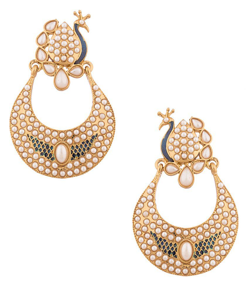 Voylla Golden Hoop Earrings