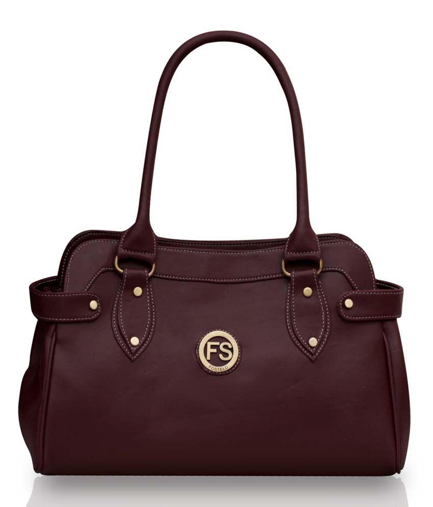 Fostelo Maroon Faux Leather Shoulder Bag