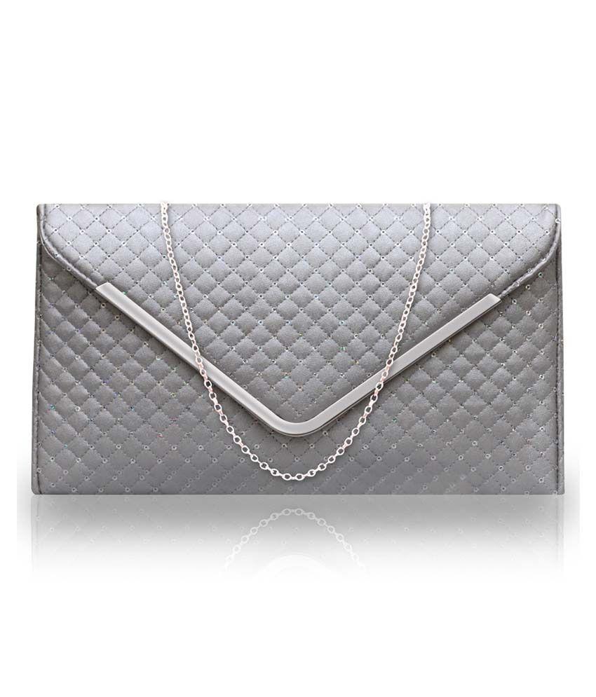 Fostelo Silver P.U. Zip Sling Bag