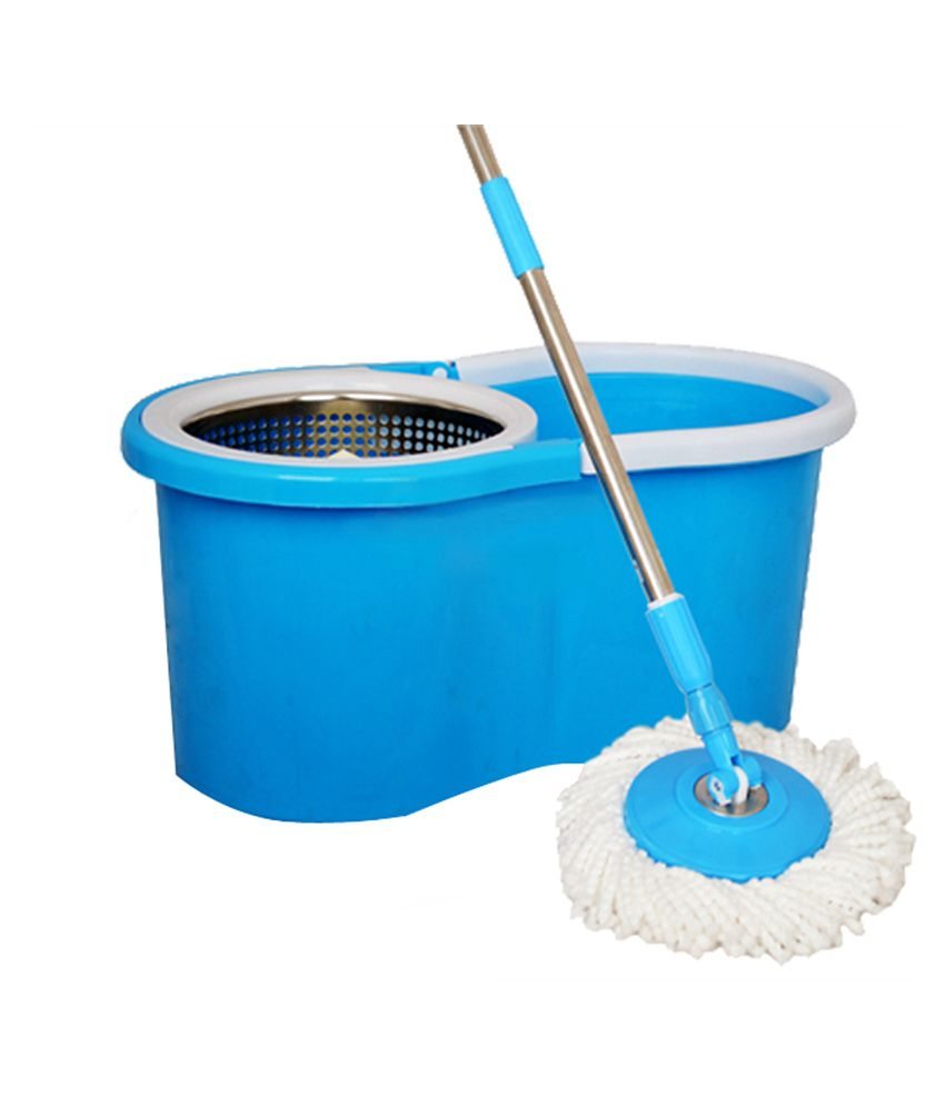 Rinnovare bucket mop floor cleaner bluestainless steel for Mop for floor wipes