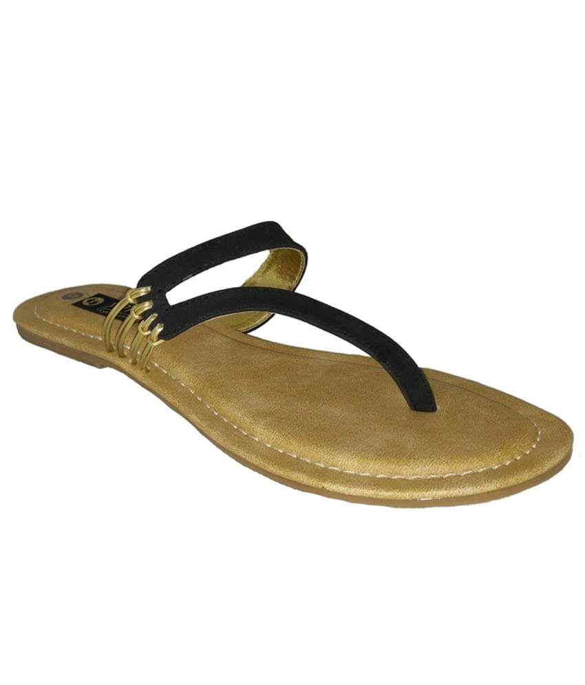 Senso Vegetarian Shoes Black Flat Slippers