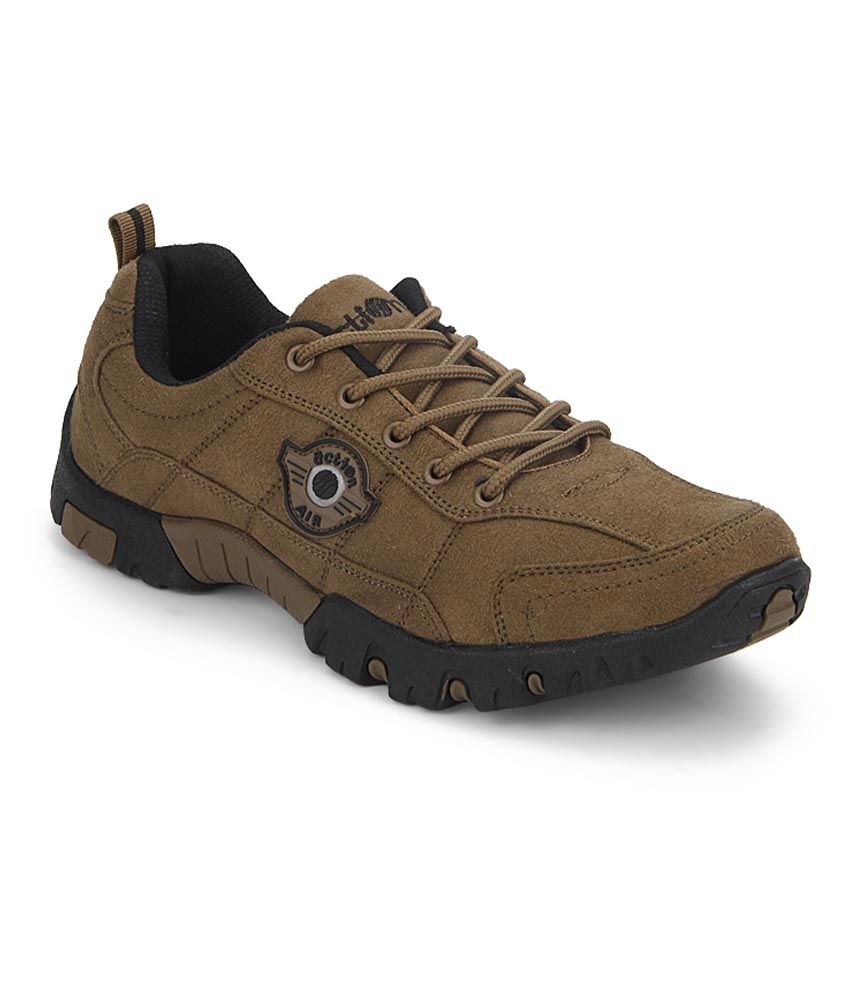 Action Shoes Brown Outdoor Shoes - Buy