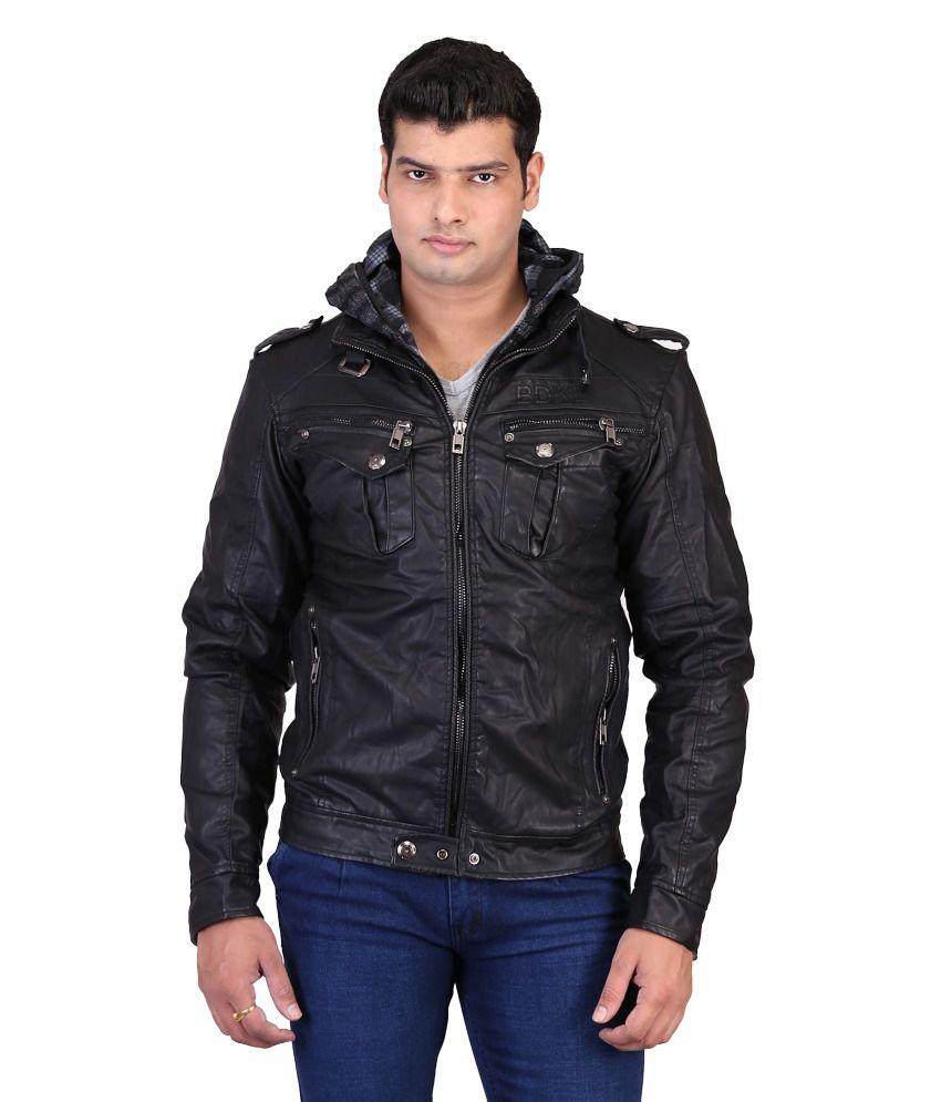 Mens jacket on flipkart - Mens Black Leather Jacket Flipkart