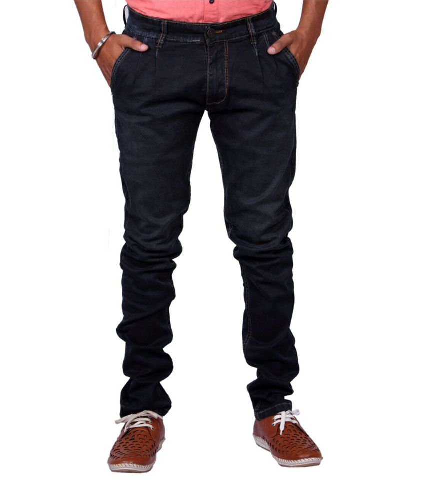 Wills & Scott Black Cotton Blend Slim Fit Jeans