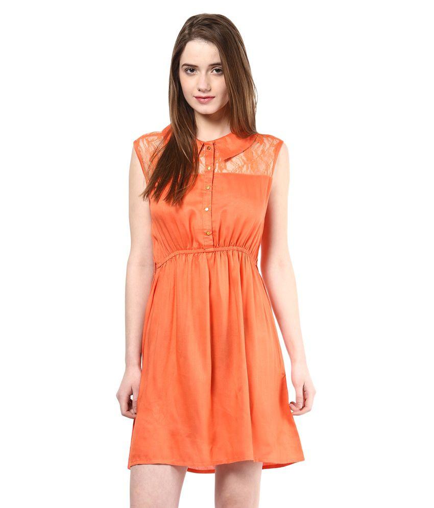 La rochelle orange cotton lycra dresses buy la rochelle orange cotton lycra dresses online at - Boutique orange la rochelle ...