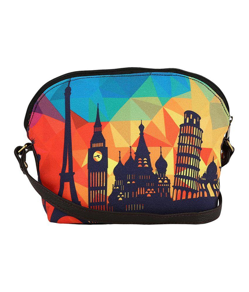 Lavaya Canvas Cloth Sling Bag