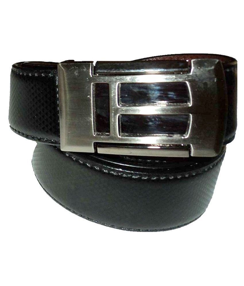 Mode Black Leather Autolock Buckle Casual Belt