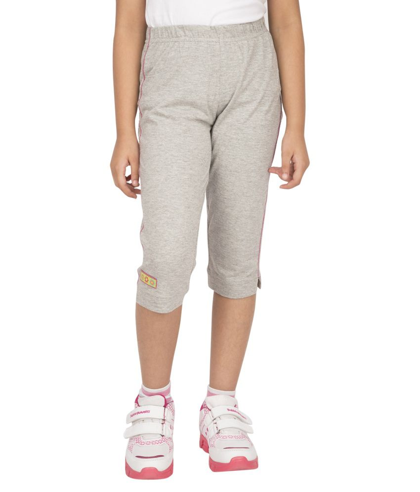 Ocean Race Gray Cotton Solids Capri