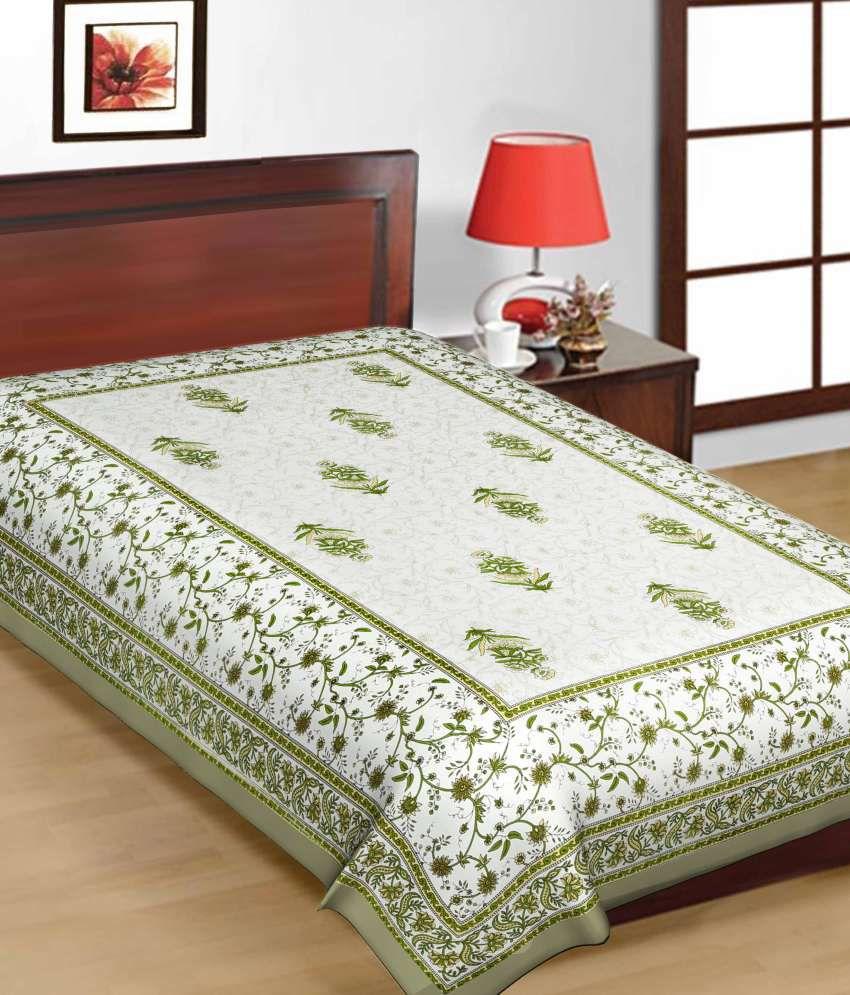 UniqChoice Printed Cotton Single Bed Sheet