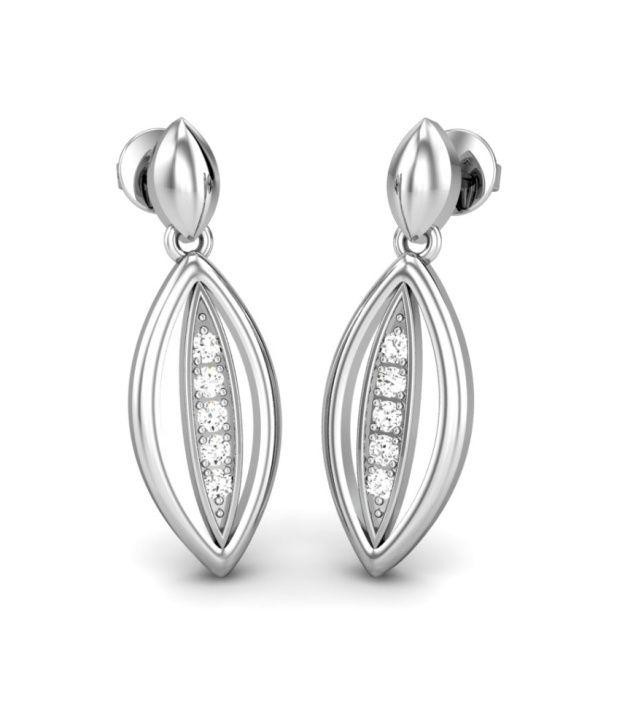 Candere Sharon White Gold 14K Diamond Earrings
