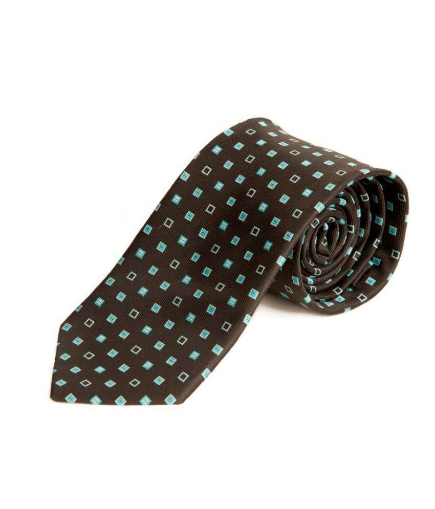 D Vaish & Sons Printed Design Brown Necktie For Men
