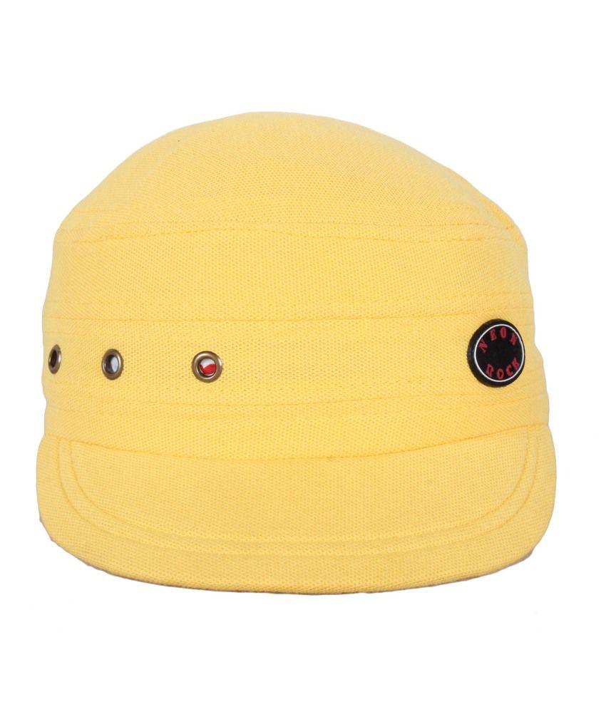 Jstarmart Yellow Polyester Golf Cap For Men