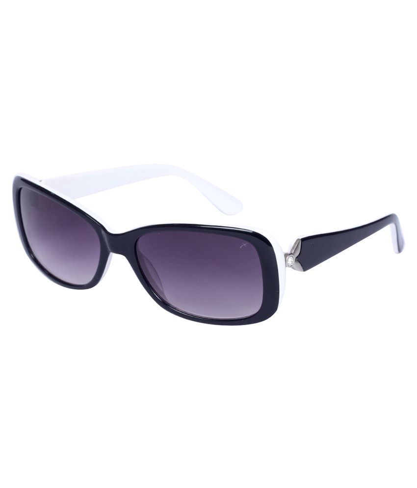 Maax MX-1931-White Black Non Metal Polycarbonate Sunglasses