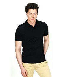 Inkdice Trendy Black Cotton Blend Polo T-shirt