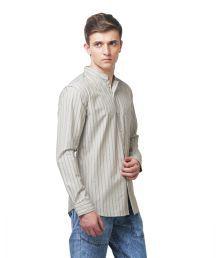 Yepme Gray Stripes Casual Shirt