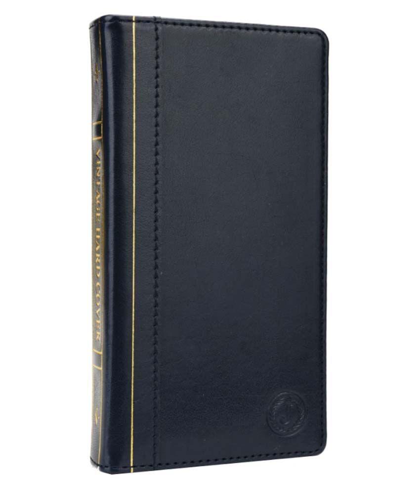 Jo Jo Cover Vintage Series Leather Pouch Flip Case For Oppo Mirror 3 Dark Blue