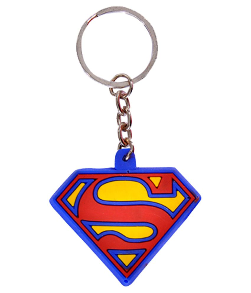 AMR Rubber Superman & Batman Combo Keychain