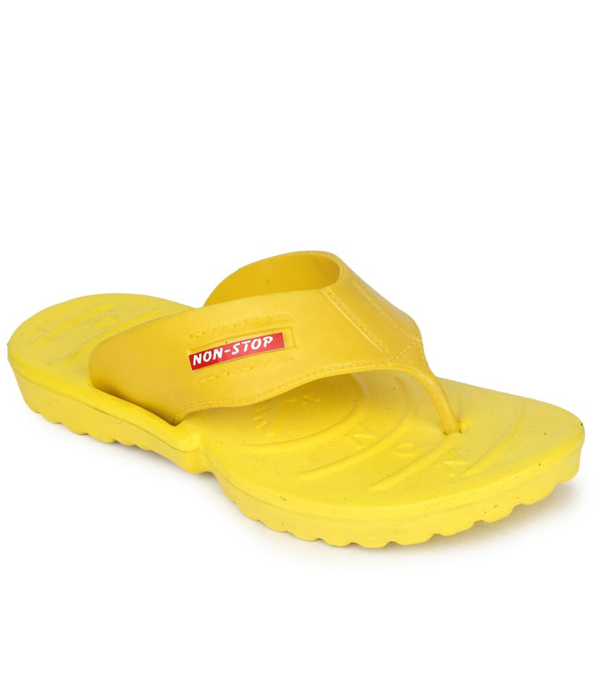 2c1ba0ba8af56 11E Yellow V-Strap Daily Wear Slippers Price in India- Buy 11E Yellow  V-Strap Daily Wear Slippers Online at Snapdeal