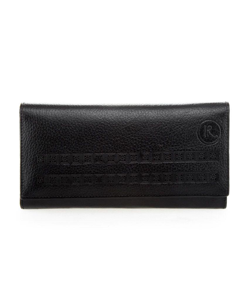 Incredible Range Black Leather Bi-Fold Regular Wallet for Women