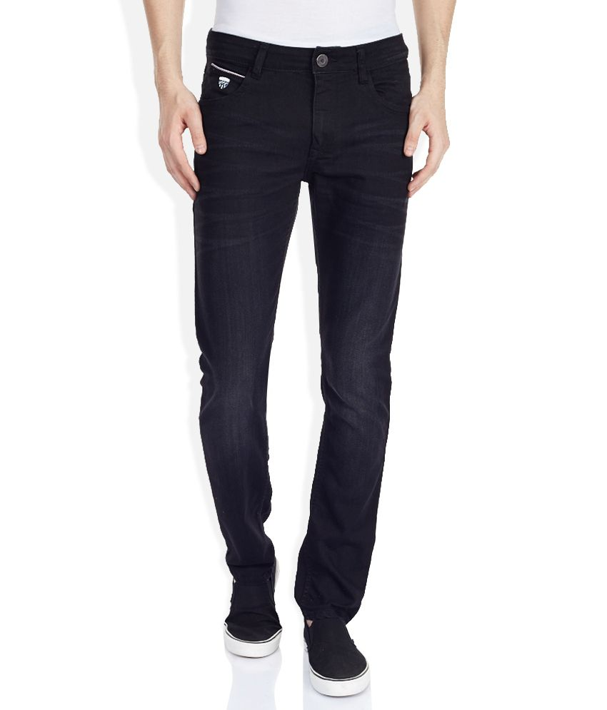 John Players Black Dark Wash Slim Fit Jeans
