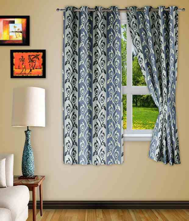 Story@Home Set of 2 Window Eyelet Curtains Contemporary