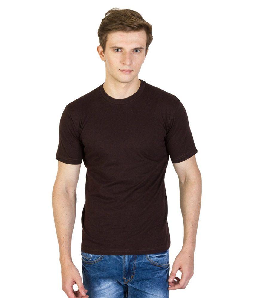 Value Shop India Brown Cotton Round Neck T-Shirt