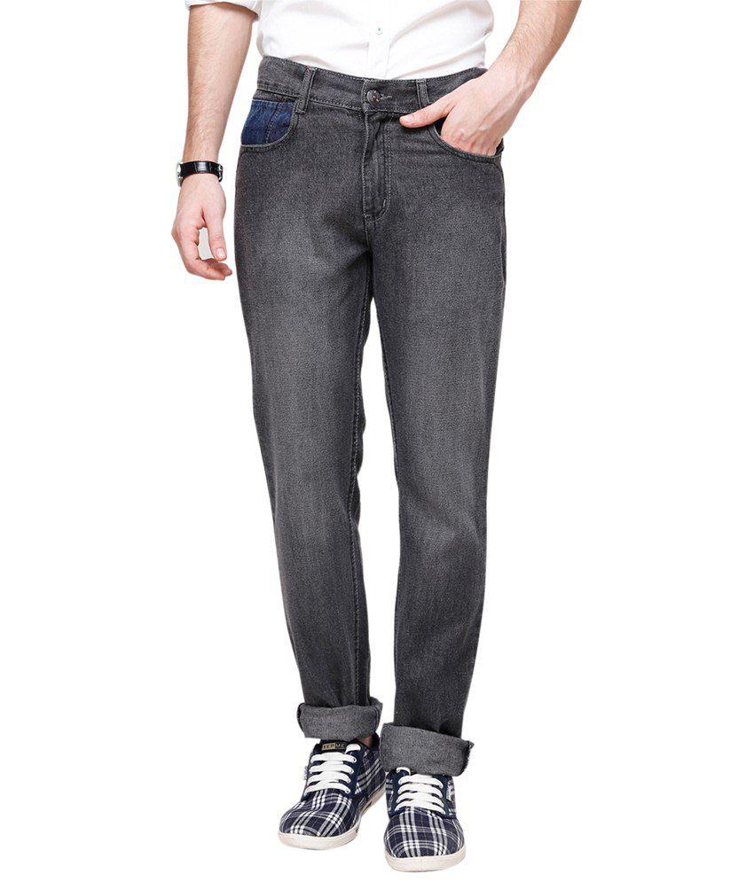 Yepme Classy Gray Regular Fit Jeans for Men