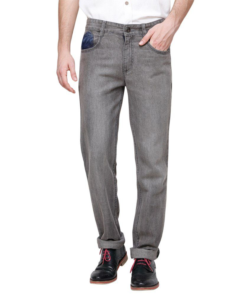 Yepme Fine Gray Regular Fit Jeans for Men