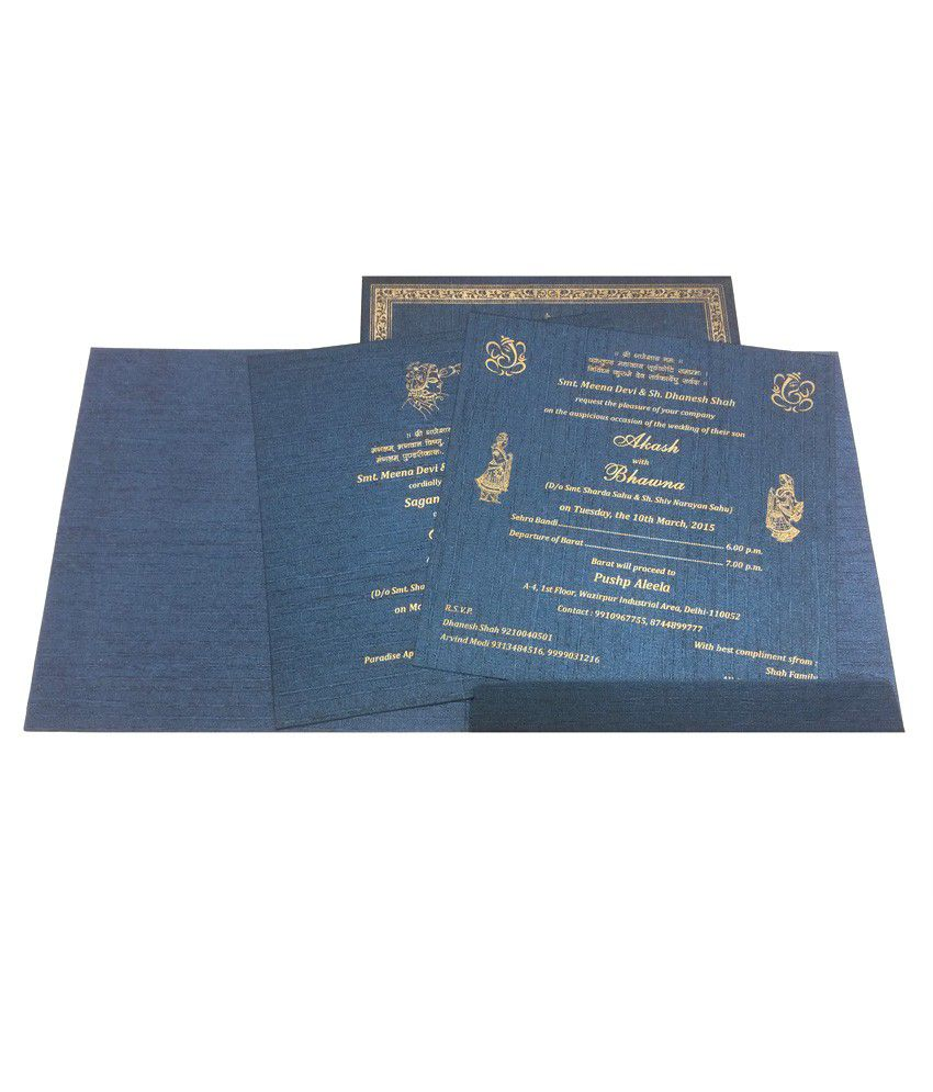 Parinay Cards Hindu Wedding Card 3d Pack Of 50 Buy Online At Best