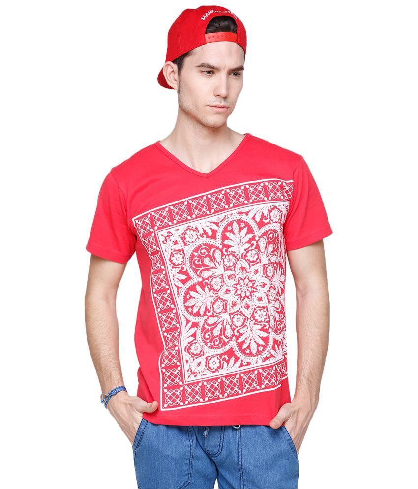 Yepme Red Moroccan T Shirt for Men