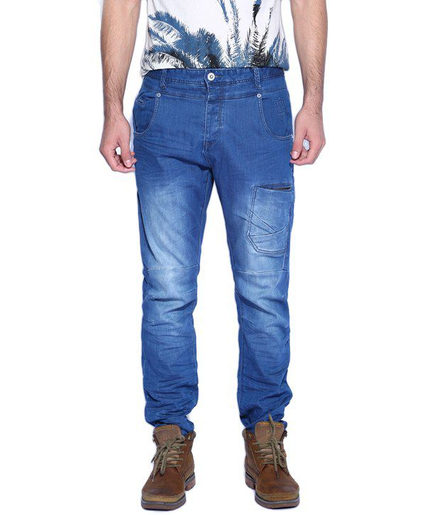 883 Police Aivali Blue Men's Slim Fit Jeans