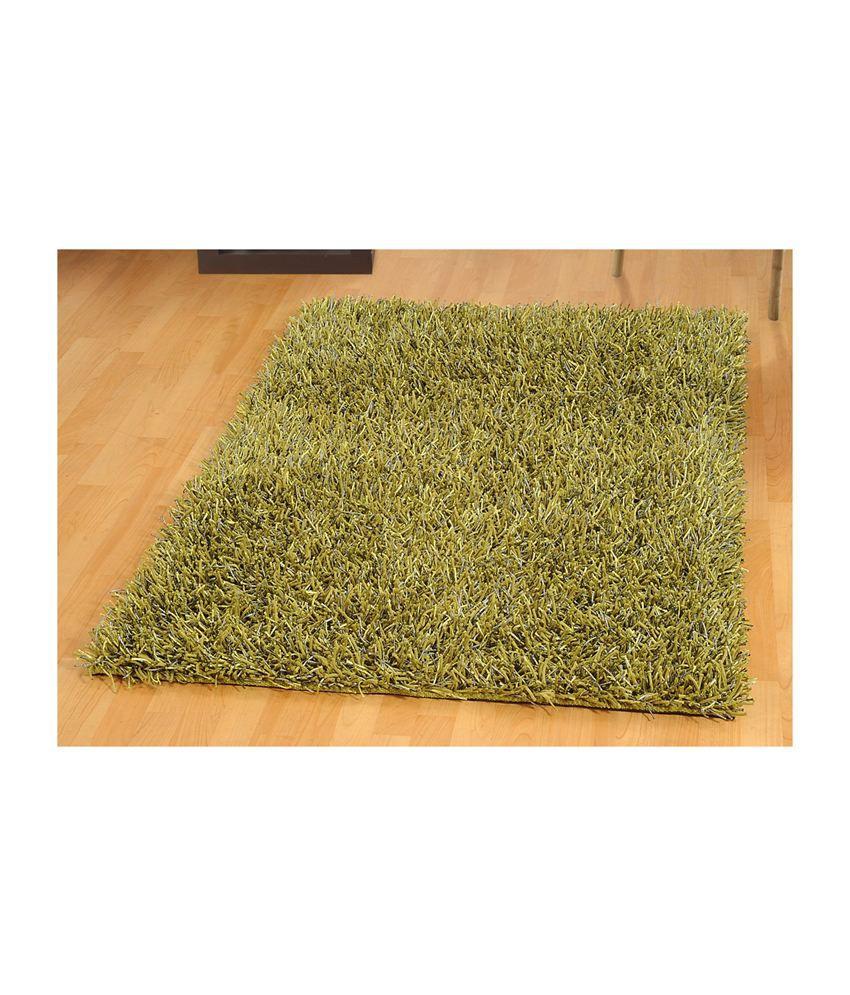 Flooring India Modern Super Quality Shimmer Rug Green